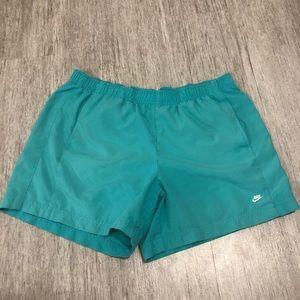 Nike athletic shorts teal blue medium 8-10